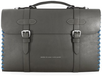 Anchor & Crew Falcon Grey Rufford Leather & Rope Briefcase Large