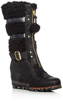 Sorel Helen Holiday Shearling Wedge Boots