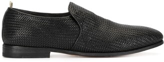 Officine Creative woven Derby shoes