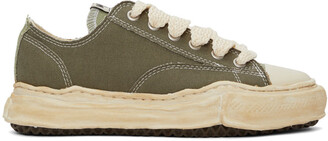 Miharayasuhiro Green Over-Dyed OG Sole Peterson Sneakers