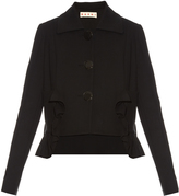Marni Cropped cotton-blend crepe tailored jacket