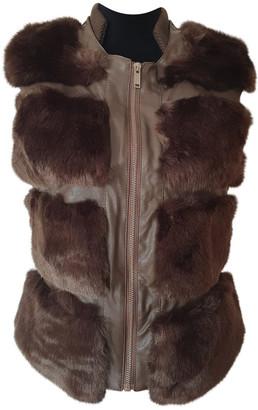 Silvian Heach Brown Faux fur Coats
