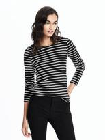 Banana Republic Long-Sleeve Striped Tee
