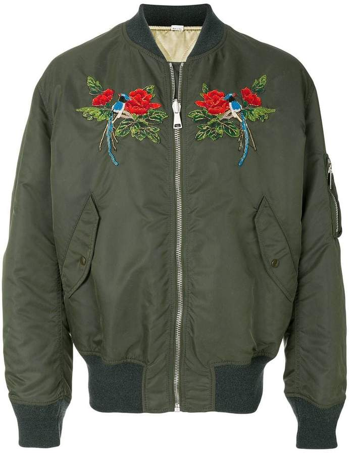 Gucci beaded bomber jacket