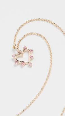 Marlo Laz 14k Mini Open Heart Necklace