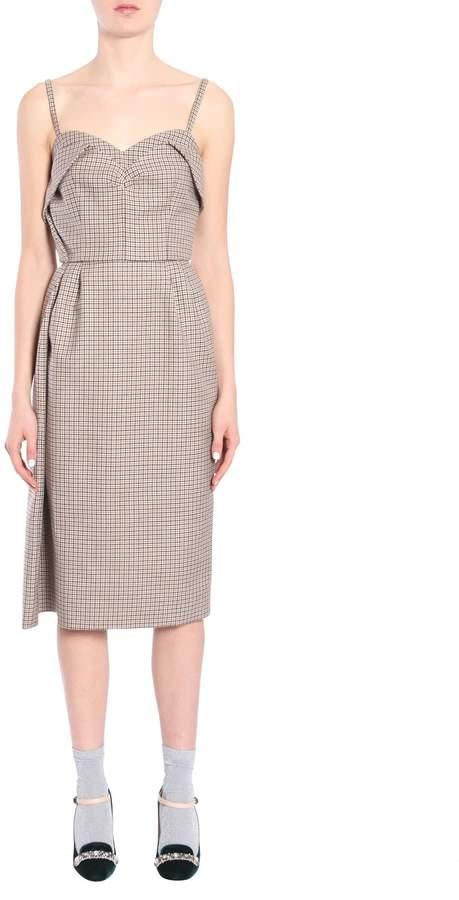 N°21 N.21 Pied De Poule Wool Dress