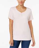 Karen Scott Henley T-Shirt, Only at Macy's