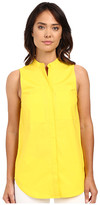 MICHAEL Michael Kors Sleeveless Patch Button Down Top
