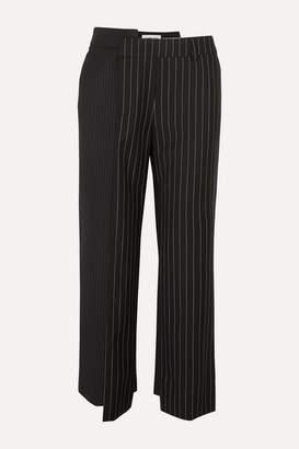 Monse Paneled Pinstriped Wool Straight-leg Pants - Black