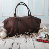 NV London Calcutta Personalised Supersize Leather Holdall
