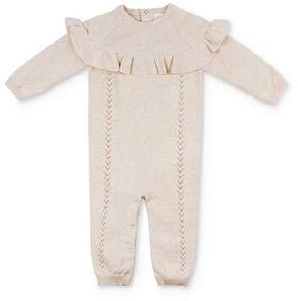 EGG new york Egg by Susan Lazar Girls' Audrey Ruffled Coverall - Baby