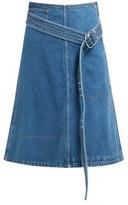 La Fetiche - Bonnie Belted Denim Skirt - Womens - Indigo