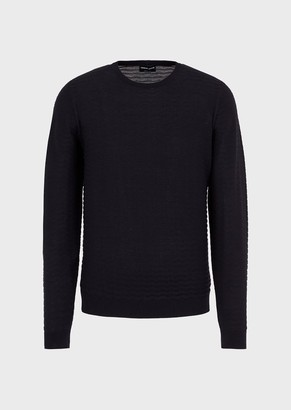 Giorgio Armani Silk And Cotton Sweater With Wave Effect