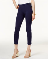 MICHAEL Michael Kors Side-Zipper Ponte Ankle Pants