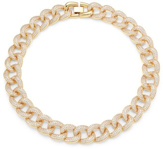 Fallon Armure Goldtone & Pave Chain-Link Collar Necklace