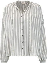 Temperley London Mitka striped silk blouse
