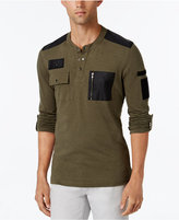 INC International Concepts Men's Never Alone Pocket Henley, Only at Macy's