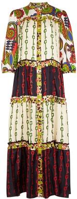 La Prestic Ouiston Flora printed silk maxi dress