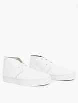 Saturdays Surf NYC White Leather Desert Boots