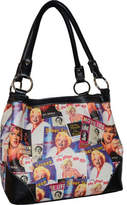Monroe Marilyn Forever Beautiful Collage Medium Tote MM613 (Women's)