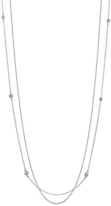 Renee Lewis 18K White Gold & Diamond 2-Tier Chain Necklace