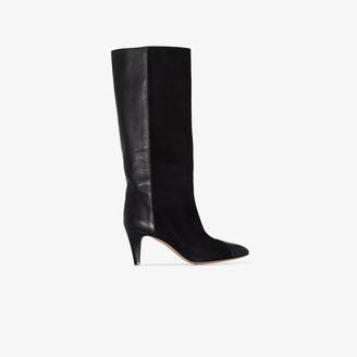 Isabel Marant black Leas 75 suede boots