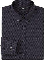 Uniqlo Men Extra Fine Cotton Broadcloth Printed Long Sleeve Shirt