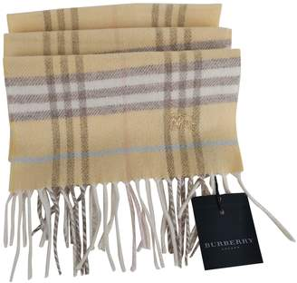 Burberry Yellow Wool Scarves