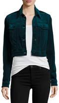 J Brand Faye Shrunken Velvet Jacket, Navy