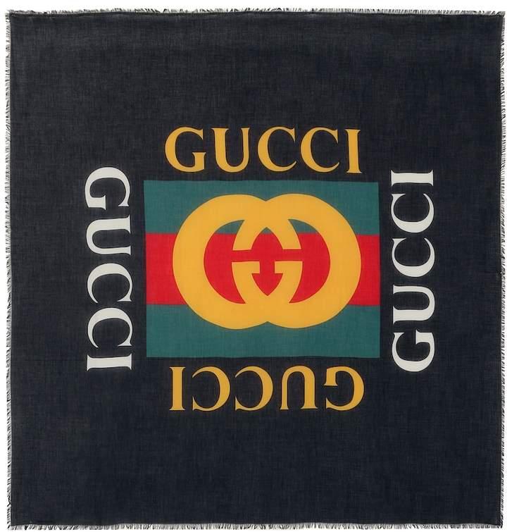 Gucci Logo modal and silk scarf