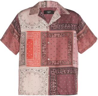 Amiri Bandana Reconstructed Silk Shirt