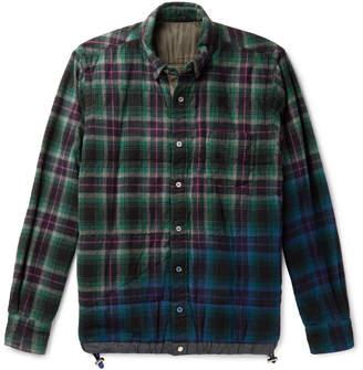 Sacai Checked Cotton-Flannel Overshirt