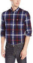 Fred Perry Men's Plaid Button-Front Shirt