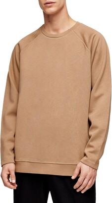 Topman Side Zip Crewneck Sweater