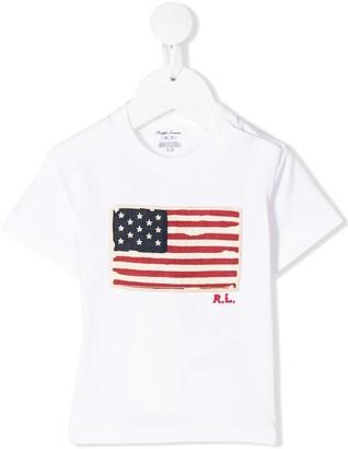 Ralph Lauren Kids flag print T-shirt
