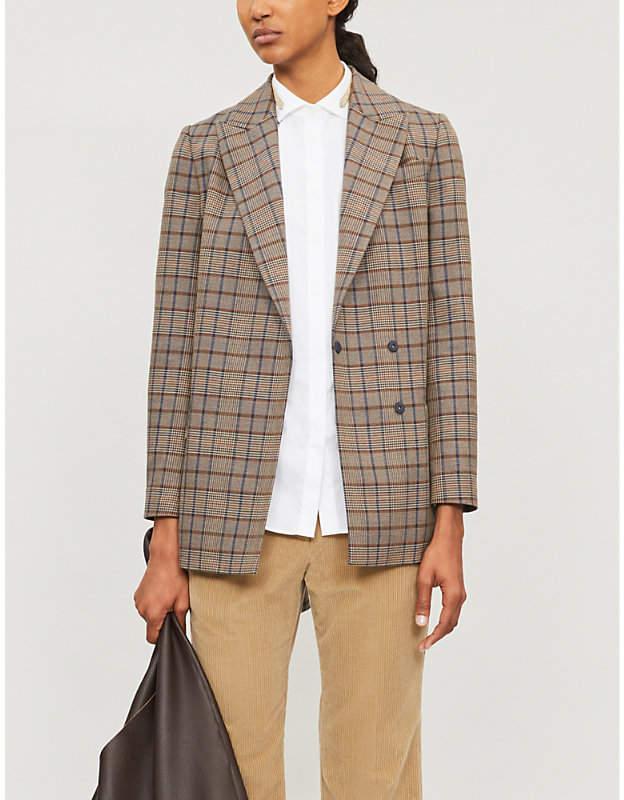 Brunello Cucinelli Bead-trimmed cotton-blend shirt