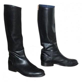 Veronique Branquinho Black Leather Boots