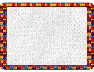 Lego East Urban Home Frame Red Area Rug East Urban Home Rug Size: Rectangle 5' x 7'