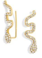 BaubleBar Crystal Snake Ear Crawlers
