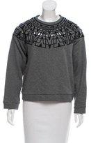 Sea Long Sleeve Embellished Sweatshirt