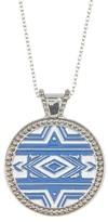 Jessica Simpson Pattern Circle Pendant Necklace