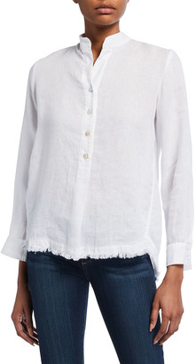 Finley Henri Oversized Washed Linen Popover Shirt