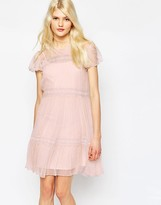 Needle & Thread Chiffon Lace Dress