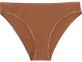 Base Range Baserange - Pune Ribbed Stretch-organic Cotton Briefs - Light brown