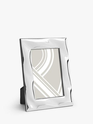 John Lewis & Partners Wave Photo Frame, Silver