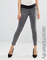 Asos Ridley Skinny Jean in Slated Gray With Under The Bump Waistband