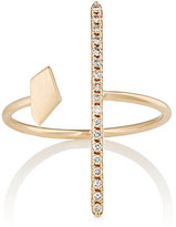 Hirotaka Women's White Diamond & Yellow Gold Ring