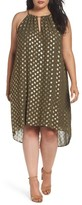 MICHAEL Michael Kors Plus Size Women's Bergalia Foiled Chain Neck Trapeze Dress