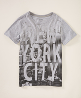 DKNY Heather Light Gray 'New York City' Crewneck Tee - Boys
