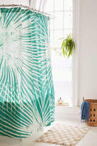 Urban Outfitters Batik Palm Print Shower Curtain